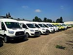 Brand new Ford Transit and Ford Transit Custom on stock